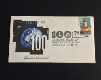 NASA Space Shuttle Mission Launch Covers. 100th U.S. Manned Spaceflight.
