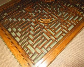 Detail of Vintage Chinese Coffee Table