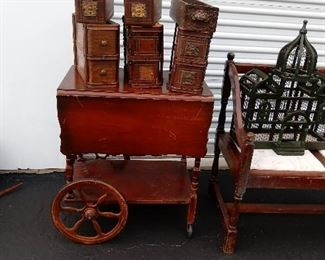 Tea Cart, Tools, Sewing Machine Drawers