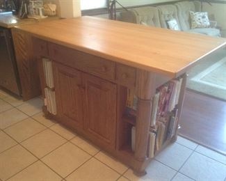 "Amish island measures 64"" long x 36"" wide x 37"" high.  Allows for bar stools.  Presale $995"