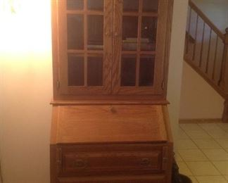 "Oak vintage Secretary.... 35"" w x 24"" d x 79"" tall.  Presale at $165"