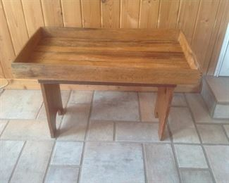 "Antique water bench...34"" l x 19"" w x 23"" high"