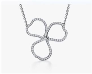 Tiffany platinum and diamond necklace. From Tiffany and Company website. Actual photos coming soon