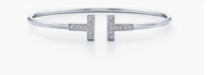 Tiffany 18k white gold and diamond