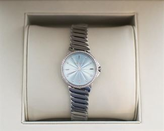 Tiffany diamond watch has paperwork!