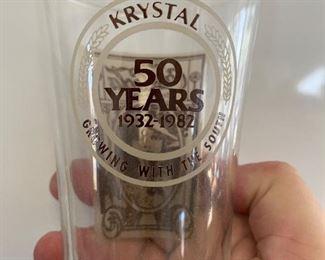 Krystal 50th anniversary glasses