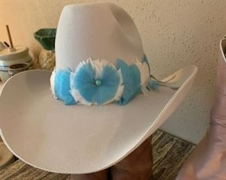"""""""Luv Ya Blue""""   Cowboy Hat    Worn to the Oilers Astrodome Football  1970-1980 games"""