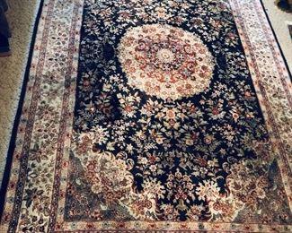 "Silk Oriental rug - 72"" x 112"" (not including 5"" fringe on both ends)"