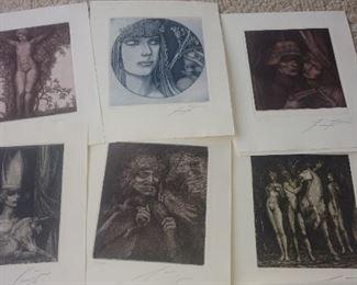 Ernst Fuchs signed prints