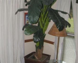 Great looking artificial banana tree.