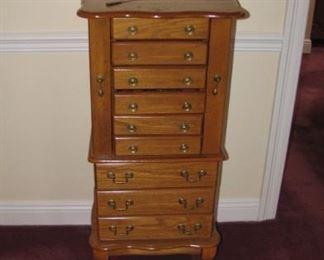 Oak jewelry chest