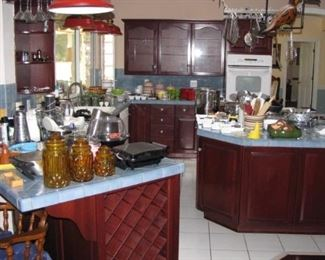This kitchen is huge, and packed!