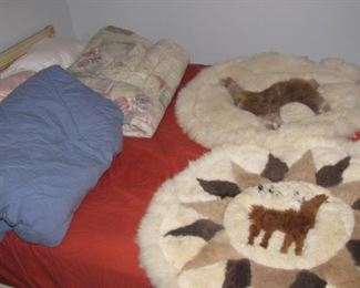 Nice pair of small Alpaca rugs.