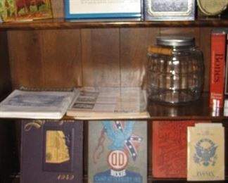 Vintage military yearbooks, college / H.S , photo albums and more.