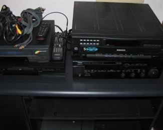 Selection of audio equipment.