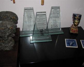 FWB Sailfish club Marlin trophies, cast iron bookends.