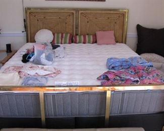 Nice Sealy pillow top King size bed and frame.
