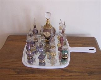 Nice collection of hand blown perfume bottles.