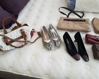 Ivana Trump purse, Italian shoes,