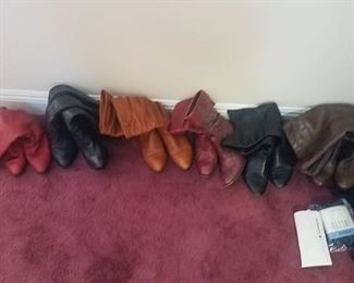 Boot selection, many gently worn.