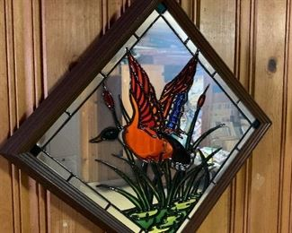 Mirror and stained glass