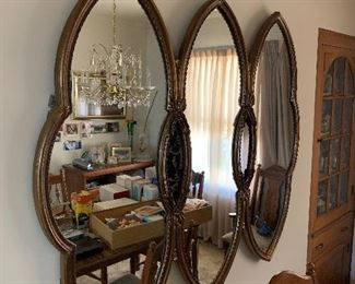 Large unique wall mirror