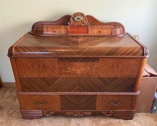 Waterfall chest with clock and lower drawer!