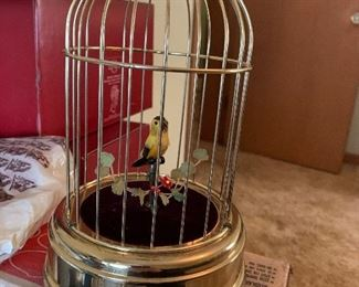 Singing bird in cage from west Germany!