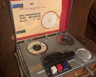 Mayfair five transistor tape recorder