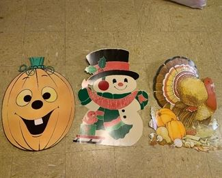 Vintage die cuts for different holidays