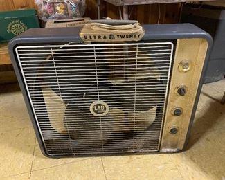 Old metal box fan