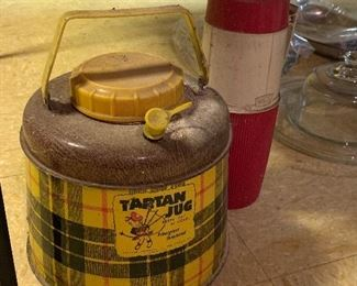 Old tartan jug