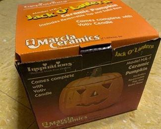Marcia Ceramics 80s ceramic pumpkin in original box