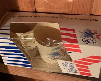 Plastic cups from 1984 Olympics