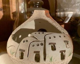 Southwestern candle holder