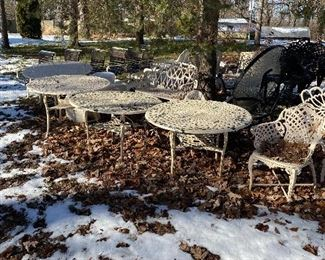 Outdoor patio furniture iron