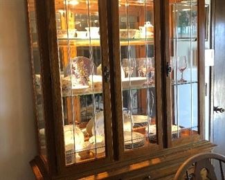 Beautiful china cabinet with touch lighting