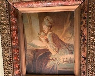 Beautiful Vintage Frame with Lovly Art