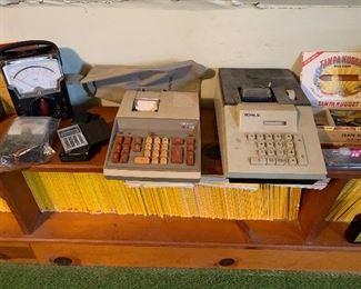 Vintage adding machine