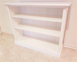 White Beadboard bookcase