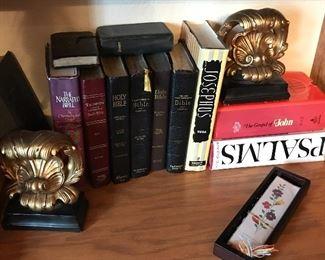 Beautiful bookends and wonderful spiritual books