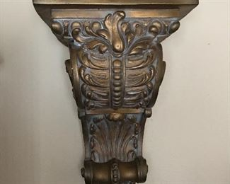 This is a HEAVY plaster sconce