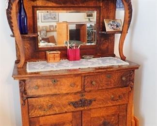 ANTIQUE BUFFET WITH SERVING SPACE
