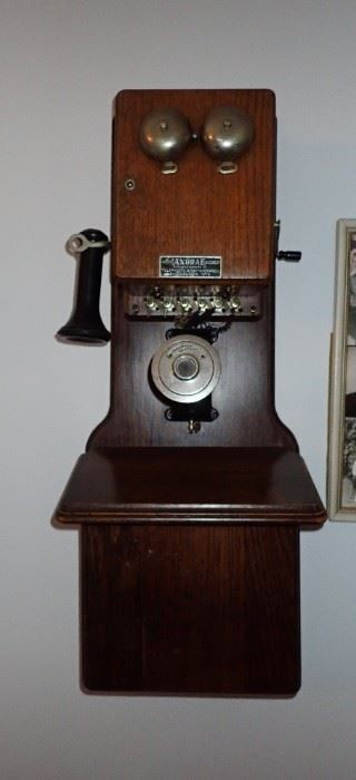 VINTAGE WALL PHONE / ANDRAE - TELEPHONE & SWITCHBOARD