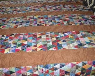 QUEEN SIZE QUILT - NOT QUITE FINISHED BUT STUNNING!
