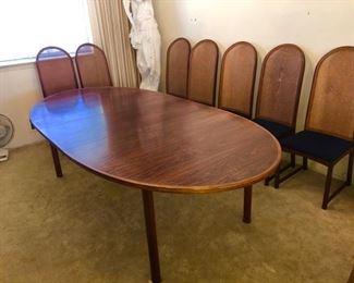 Denmark Rosewood Dining Table -Sibast -Arne Vodder c.1960's