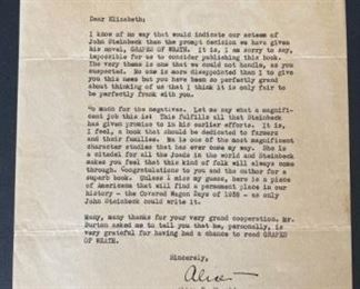 Letter from Hearst Intl to Steinbeck Publisher