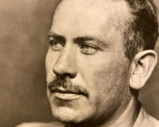 Photo of John Steinbeck 1936 & Signature Card