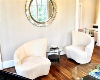 Theodore's Costum Made White Sofa And Chair. $3,000.