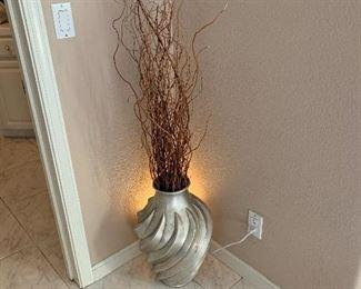 ceramic vase with back light